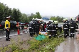Personenrettung beim Verkehrsunfall am 13. August.